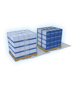 Pallet + Stacking Trays